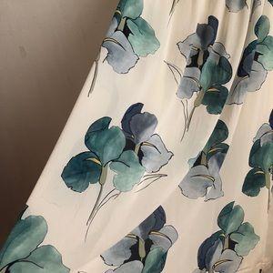 Tory Burch Skirts - Tory Burch maxi skirt floral size:4 silk blue